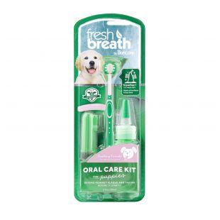 FRESH BREATH Dental care kit, for junior dogs Green