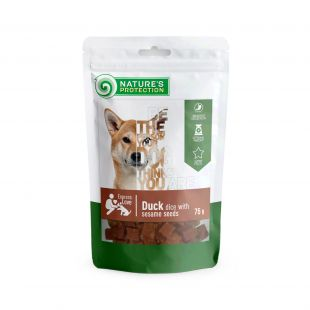 NATURE'S PROTECTION snack for dogs duck dices with sesame, 75 g x 6