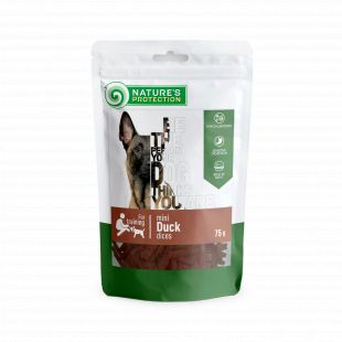 NATURE'S PROTECTION snack for dogs mini duck dices, 75 g x 6