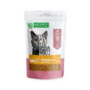 NATURE'S PROTECTION snack for cats with chicken and goji berries 75 g x 6