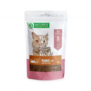 NATURE'S PROTECTION skanėstas katėms triušiena su goji uogomis 75 g x 6