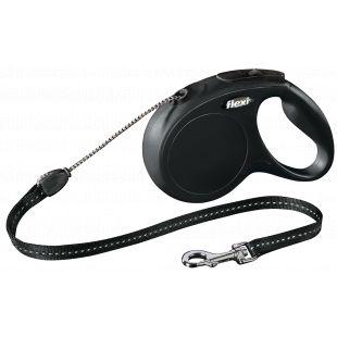 FLEXI Classic Leash, max 20 kg, 5 m, cord, black, M
