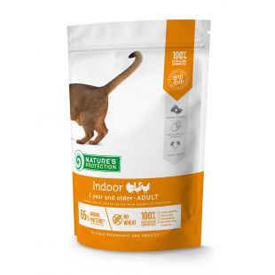 NATURE'S PROTECTION Indoor Adult 1 year and older Poultry Dry food for cats 400 g