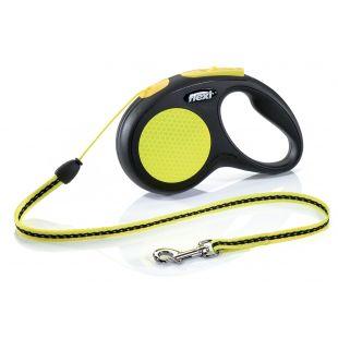 FLEXI New Neon Leash  iki 12 kg, 5 m, S