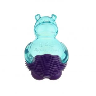 GIGWI Toy for dogs, Suppa Puppa hippopotamus, blue/purple