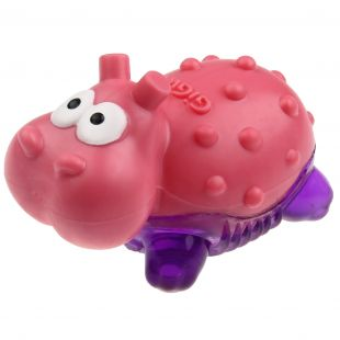 GIGWI Toy for dogs, Suppa Puppa hippopotamus, rose/purple