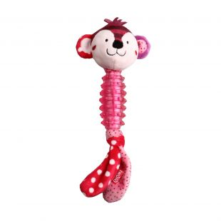 GIGWI Игрушка для собак, Обезьянка Suppa Puppa, пищащая