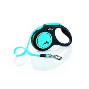 FLEXI New Neon Leash max 15 kg 5m, S, striped, blue