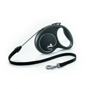 FLEXI Black Design Leash, cord  S, black