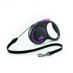 FLEXI Black Design Leash, cord  S, pink