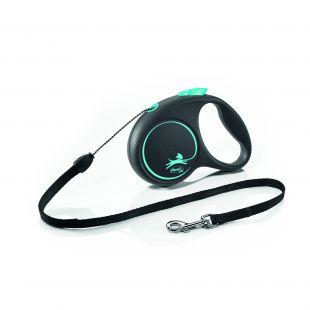 FLEXI Black Design Leash, cord  S, blue