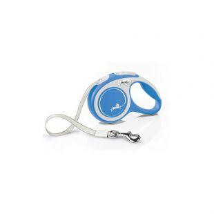FLEXI New Comfort Leash, striped, XS, blue