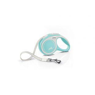 FLEXI New Comfort Leash, max 15 kg, 5 m, striped S, light blue
