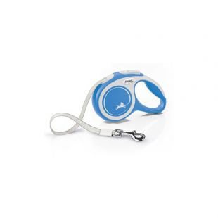 FLEXI New Comfort Leash, max 15 kg, 5 m, striped S, blue