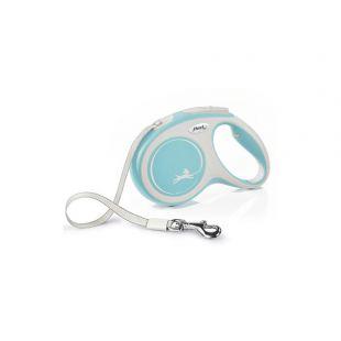 FLEXI New Comfort Leash, striped, M, light blue