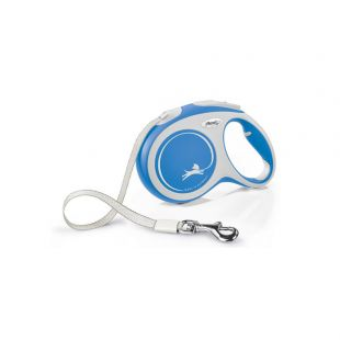 FLEXI New Comfort Leash, striped, L, blue