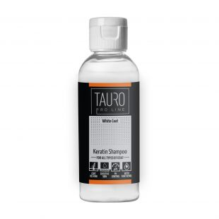 TAURO PRO LINE White coat KERATIN SHAMPOO , shampoo for dogs and cats 65 ml