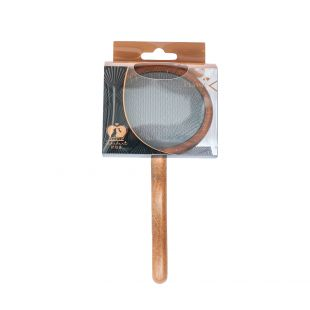 SHUBERT Brush for cats and dogs soft bristles, light brown, 18.5x9x2 cm,