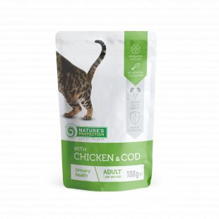NATURE'S PROTECTION Urinary health Adult cat With chicken and cod, canned food for adult cat, in a pouch 100 g