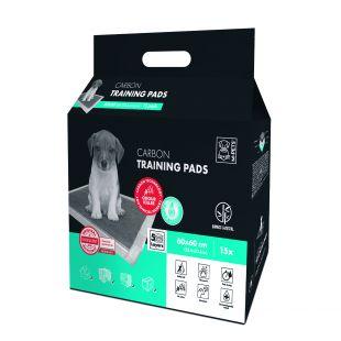 M-PETS Disposable pads for pets with carbon technology, 60x60 cm, 15 pcs