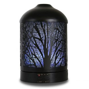 A'SCENTUALS Ultrasonic diffuser 100 ml, with tree motives, black