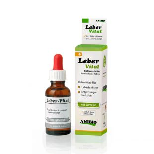 ANIBIO Leber-Vital feed supplement for cats and dogs, to support liver function 30 ml