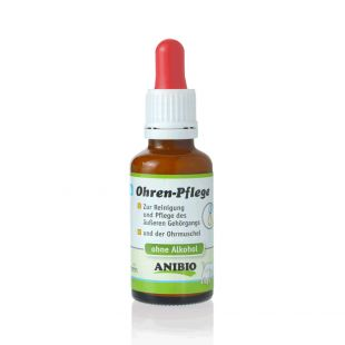 ANIBIO Ohrenpflege care product for dogs and cats, for ear cleaning 30 ml