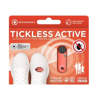 TICKLESS ultrasonic pendant for humans against ticks and fleas, rechargeable orange
