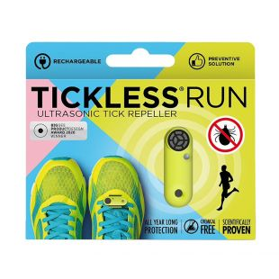 TICKLESS ultrasonic pendant for humans against ticks and flea rechargeable, yellow