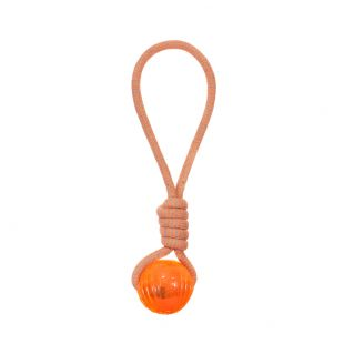MISOKO&CO Toy for dogs, rope with ball orange, 43 cm