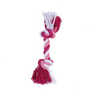MISOKO&CO Toy for dogs, twisted rope pink, 15 cm
