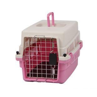 KANING Pet transport box 50x34x32 cm, pink