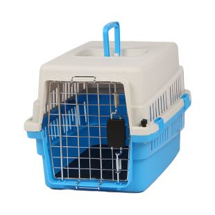 KANING Pet transport box 50x34x32 cm, light blue