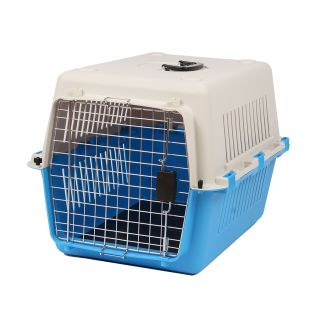 KANING Pet transport box 67x51x47 cm, light blue