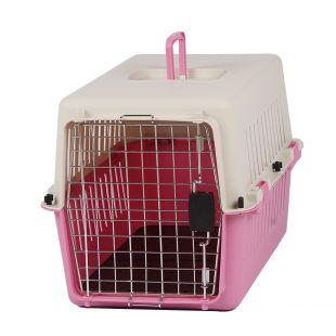 KANING Pet transport box 61x40x39 cm, pink