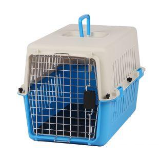 KANING Pet transport box 61x40x39 cm, light blue