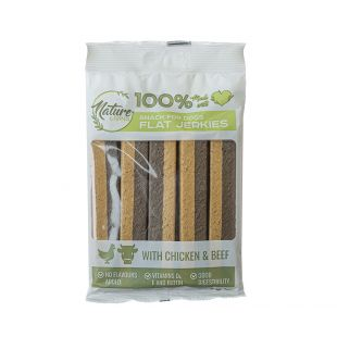 NATURE LIVING Flat Jerkies with chiken and beef, 200 g x 6