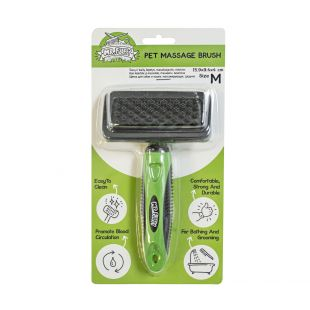 MR.FLUFFY Brush for dogs and cats massaging, medium, 15.9 x 9.4 x 4 cm