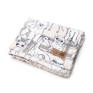 NATURE'S PROTECTION blanket 127 x 152 cm, 100% cotton, creamy
