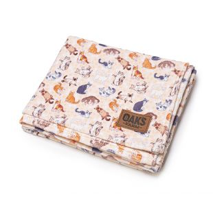 OAK'S FARM blanket 127 x 152 cm, 100% cotton, pink