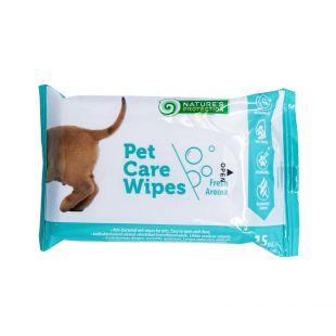 NATURE'S PROTECTION Antibacterial pet care wipes odorless, 15 pcs