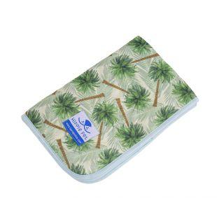 HIPPIE PET reusable pet pad 70x80 cm green palm trees (size M)
