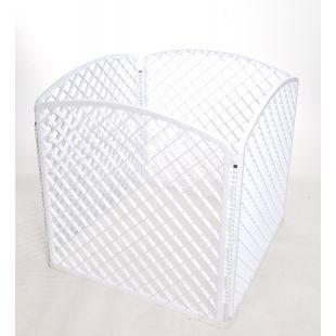 AOTONG Plastic fence 75x75x75 cm, white