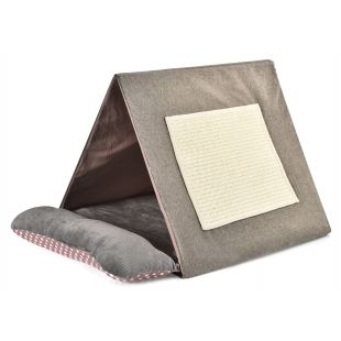 P.LOUNGE Bed for cats with scratching post 50x45x38 cm