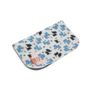 MISOKO&CO reusable pee pad for dogs 80x140 cm, with blue puppies