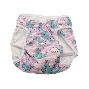MISOKO&CO reusable diapers for female dogs M, with whales