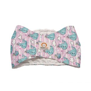 MISOKO&CO reusable diapers for male dogs M, with whales
