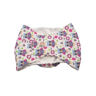 MISOKO&CO reusable diapers for male dogs XL, with owls