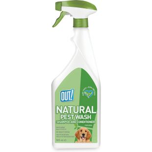 OUT! Dog spray shampoo and conditioner anti-parasitic, non-washable, 500 ml