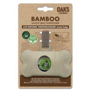 OAK'S FARM OAK'S FARM dog excrement bag case with bags beige, 15 pcs